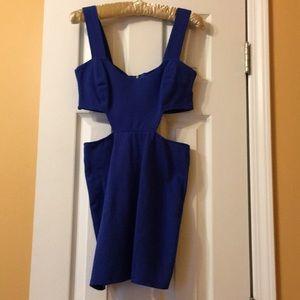 Blaque Label electric blue mini dress